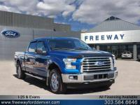 Lightning Blue 2017 Ford F-150 XLT 4WD 6-Speed