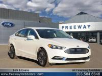 White Platinum Metallic Tri-Coat 2017 Ford Fusion SE