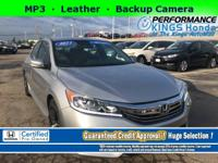 Honda Certified! Features: Leather, Backup Camera, a