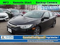 Honda Certified! Features: Backup Camera, Remote Start,