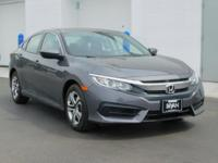 Certified. Clean CARFAX. This 2017 Honda Civic LX in