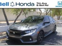 New Price! Certified. Clean CARFAX. Civic Sport, 4D
