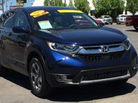 Clean CARFAX. Certified. Blue 2017 Honda CR-V EX AWD
