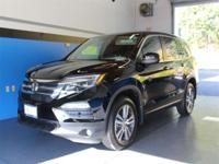 CARFAX One-Owner. Clean CARFAX. Black 2017 Honda Pilot