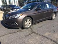 Certified. Dark Truffle 2017 Hyundai Sonata FWD 6-Speed