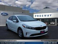 Clear White 2017 Kia Forte LX FWD 6-Speed Automatic