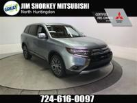 Certified. 2017 Mitsubishi Outlander SE 4WD New Price!