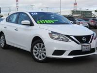 Clean CARFAX. Certified. Aspen White 2017 Nissan Sentra