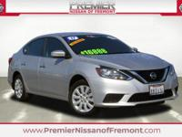 Clean CARFAX. Certified. Brilliant Silver 2017 Nissan