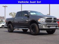 Gray 2017 Ram 1500 SLT 4WD 8-Speed Automatic HEMI 5.7L