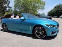 2018 BMW 4 Series 430i 34/24 Highway/City MPG  Options: