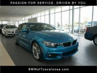 Blue 2018 BMW 4 Series 430i RWD 8-Speed Automatic Sport