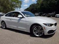 2018 BMW 4 Series 430i 34/24 Highway/City MPG  Options: