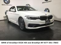 CARFAX One-Owner. Clean CARFAX. White 2018 BMW 5 Series
