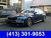 2018 BMW 5 Series M550i xDrive AWD, Black Leather,