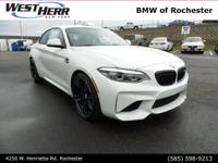 White 2018 BMW M2 RWD Manual 3.0L I6  Recent Arrival!