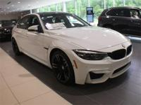 2018 BMW M3 Alpine White 3.0L I6 M Double-Clutch