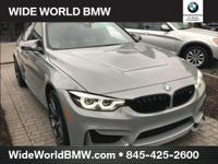 Lime Rock Gray 2018 BMW M3 RWD 7-Speed M-Double Clutch
