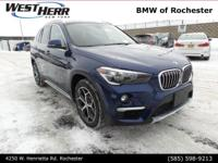 Blue Metallic 2018 BMW X1 xDrive28i AWD 8-Speed