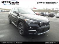 Jet Black 2018 BMW X1 xDrive28i AWD 8-Speed Automatic