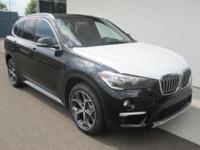 2018 BMW X1 xDrive28i Jet Black Panoramic Moonroof,