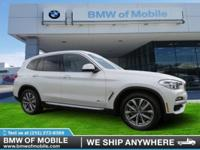 We are excited to offer this 2018 BMW X3. This SUV