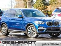 Phytonic Blue Metallic 2018 BMW X3 xDrive30i AWD