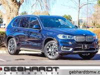 X5 xDrive40e, AWD, Imperial Blue Metallic, and Black