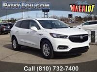 White Frost 2018 Buick Enclave Essence FWD 9-Speed