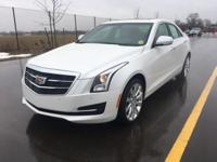 Factory MSRP: $45,645 Crystal White 2018 Cadillac ATS