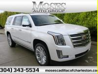 New Price! Crystal White 2018 Cadillac Escalade ESV 4WD