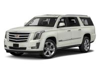 Black 2018 Cadillac Escalade ESV Premium 4WD 10-Speed
