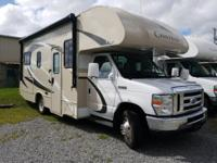 Take to the road easily in this Chateau 23U class C