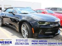 Recent Arrival! Black Chevrolet Camaro **ANOTHER WEBER