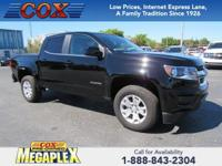 This 2018 Chevrolet Colorado LT in Black is well