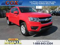 This 2018 Chevrolet Colorado LT in Red is well equipped