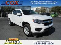 This 2018 Chevrolet Colorado LT in White is well
