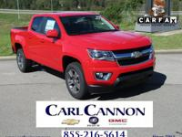 Red 2018 Chevrolet Colorado LT RWD 8-Speed Automatic