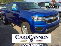 Blue Metallic 2018 Chevrolet Colorado LT RWD 6-Speed