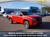 New Price! Red 2018 Chevrolet Colorado Z71 RWD 8-Speed