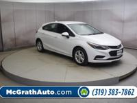 Summit White 2018 Chevrolet Cruze 4D Hatchback LT FWD