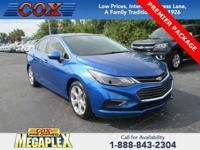 This 2018 Chevrolet Cruze Premier in Kinetic Blue