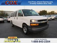 This 2018 Chevrolet Express 2500 LT in White is well