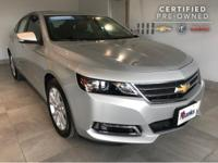 2018 Chevrolet Impala Silver Ice. CARFAX One-Owner.