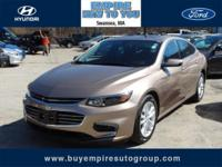 New Price! Clean CARFAX. Malibu LT 1LT, 4D Sedan, 1.5L