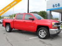 CARFAX One-Owner. Red 2018 Chevrolet Silverado 1500 LT