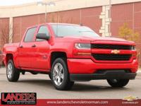 Red Hot 2018 Chevrolet Silverado 1500 Custom RWD