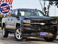 2018 Chevrolet Silverado 1500 Custom 4D Double Cab dark