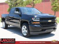 Black 2018 Chevrolet Silverado 1500 Custom 4WD 6-Speed