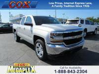 This 2018 Chevrolet Silverado 1500 LT in Silver Ice